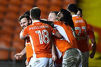 Blackpool's Jimmy Ryan celebrates scoring his side's first goal with his team-mates<br /> <br /> Photographer Richard Martin-Roberts/CameraSport<br /> <br /> The EFL Sky Bet League One - Blackpool v Charlton Athletic - Tuesday 13th March 2018 - Bloomfield Road - Blackpool<br /> <br /> World Copyright &not;&copy; 2018 CameraSport. All rights reserved. 43 Linden Ave. Countesthorpe. Leicester. England. LE8 5PG - Tel: +44 (0) 116 277 4147 - admin@camerasport.com - www.camerasport.com
