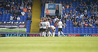 Swansea City's Wayne Routledge celebrates scoring his side's first goal <br /> <br /> Photographer Hannah Fountain/CameraSport<br /> <br /> The EFL Sky Bet Championship - Ipswich Town v Swansea City - Monday 22nd April 2019 - Portman Road - Ipswich<br /> <br /> World Copyright © 2019 CameraSport. All rights reserved. 43 Linden Ave. Countesthorpe. Leicester. England. LE8 5PG - Tel: +44 (0) 116 277 4147 - admin@camerasport.com - www.camerasport.com