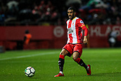 13th April 2018, Estadi Montilivi, Girona, Spain; La Liga football, Girona versus Real Betis; Jonas Ramalho drives the ball forward