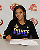 Tori Harris of Half Hollow Hills West High School poses for a portrait inside the school after signing a letter of intent to play NCAA women's basketball at James Madison University on Wednesday, Nov. 9, 2016. She is the younger sister of NBA player and fellow Hills West alumnus Tobias Harris.