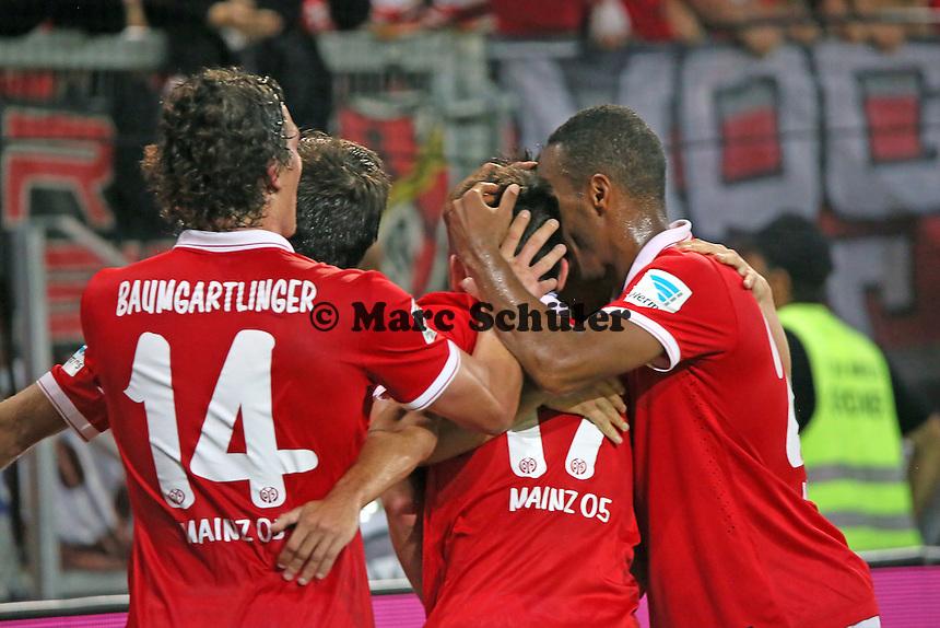 Torjubel Mainz beim 1:0 - 1. FSV Mainz 05 vs. Borussia Dortmund, Coface Arena