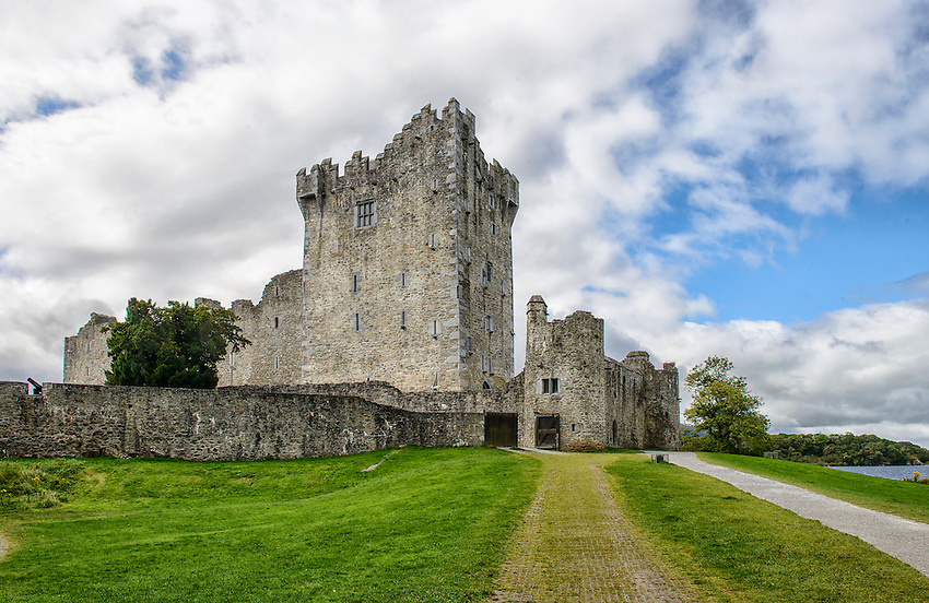 Ross Castle, located in Killarney, County Kerry, Ireland, was built during the 15th century by the O'Donoghue clan.