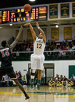 Avry Holmes of USF shoots the ball during the game against St. John's at War Memorial Gym in San Francisco, California on December 4th, 2012.   USF Dons defeated St. John's, 81-65.