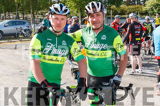 At the Rembering Zoe Cycle Challenge on Sunday morning were Father & Son , Brendan & Ryan O' Grady members of Finuge Freewheelers C.C.