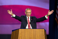 John Pedesta, Chairman of Hillary for America, announces there are more votes to be counted and there will be no announcements from the campaign until the morning at the Jacob K. Javits Convention Center in New York, New York on <br /> Wednesday, November 9, 2016.<br /> Credit: Ron Sachs / CNP / MediaPunch