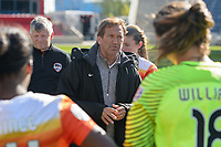 Bridgeview, IL - Saturday May 06, 2017: Randy Waldrum during a regular season National Women's Soccer League (NWSL) match between the Chicago Red Stars and the Houston Dash at Toyota Park.