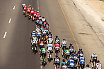 The peleton in action during Stage 1 of the 2018 Tour of Oman running 162.5km from Nizwa to Sultan Qaboos University. 13th February 2018.<br /> Picture: ASO/Muscat Municipality/Kare Dehlie Thorstad | Cyclefile<br /> <br /> <br /> All photos usage must carry mandatory copyright credit (&copy; Cyclefile | ASO/Muscat Municipality/Kare Dehlie Thorstad)