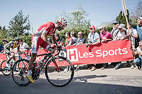 Daniel Navarro (ESP/Cofidis), 2nd run up on the infamous Mur de Huy<br /> <br /> <br /> <br /> 82nd La Fl&egrave;che Wallonne 2018<br /> 1 Day Race: Seraing - Huy (198,5km)
