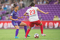 Orlando, FL - Saturday July 01, 2017: Kristen Edmonds, Christen Press during a regular season National Women's Soccer League (NWSL) match between the Orlando Pride and the Chicago Red Stars at Orlando City Stadium.
