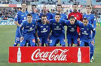 Getafe's team photo during La Liga match. February 01, 2013. (ALTERPHOTOS/Alvaro Hernandez) /NortePhoto