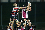 Dave Duley does his best to upset the Harbour lineout. Air New Zealand Cup rugby game between Counties Manukau Steelers & North Harbour, played at Mt Smart Stadium on August 10th, 2007. The game ended in a 13 all draw.