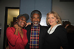 """Ernestine Jackson (in show), Another World's Andre de Sheilds (came to see show) and Guiding Light Denise Pence (produced the show with her husband Steve - """"Good Girls Only"""" - the Rehearsal Club Musical - on March 13, 2013 at the Professional Children's School, New York City, New York."""
