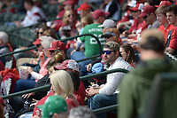 NWA Democrat-Gazette/ANDY SHUPE<br /> Arkansas Kentucky Saturday, March 17, 2018, during the inning at Baum Stadium in Fayetteville. Visit nwadg.com/photos to see more photographs from the game.