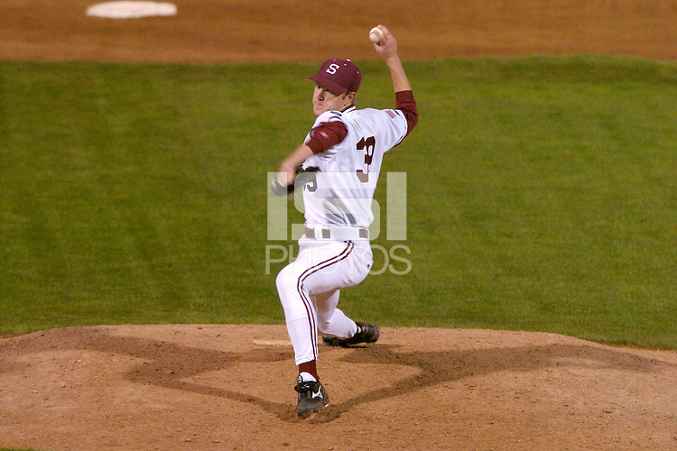 20 February 2007: Stanford Cardinal David Stringer during Stanford's 4-1 win against the San Francisco Dons at Sunken Diamond in Stanford, CA.