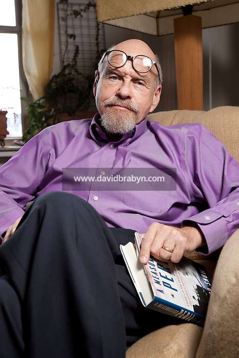 Crime novelist Lawrence Block poses for the photographer in his apartment in New York, NY, USA, 27 July 2011.