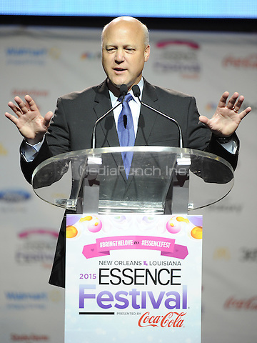 NEW ORLEANS, LA - JULY 3: New Orleans Mayor Mitch Landrieu at the press conference for the 2015 Essence Festival at the Ernest N. Morial Convention Center on July 3, 2015 in New Orleans, Louisiana. Credit: PGFM/MediaPunch