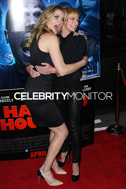 "LOS ANGELES, CA, USA - APRIL 16: Missi Pyle, Jaime Pressly at the Los Angeles Premiere Of Open Road Films' ""A Haunted House 2"" held at Regal Cinemas L.A. Live on April 16, 2014 in Los Angeles, California, United States. (Photo by Xavier Collin/Celebrity Monitor)"