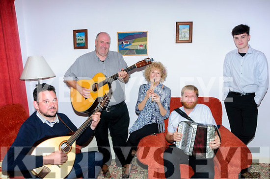 Tribute Concert :The musicians who took part in  the tribute concert to Nora Mai Rochford held in the Marquee in Ballyduff on Sunday night last were Sean Earnest, Don Stiffe, Mary Bergin, Danny O'Mahony & Seamus O'Flatharta.