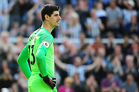 A dejected Thibaut Courtois of Chelsea during Newcastle United vs Chelsea, Premier League Football at St. James' Park on 13th May 2018