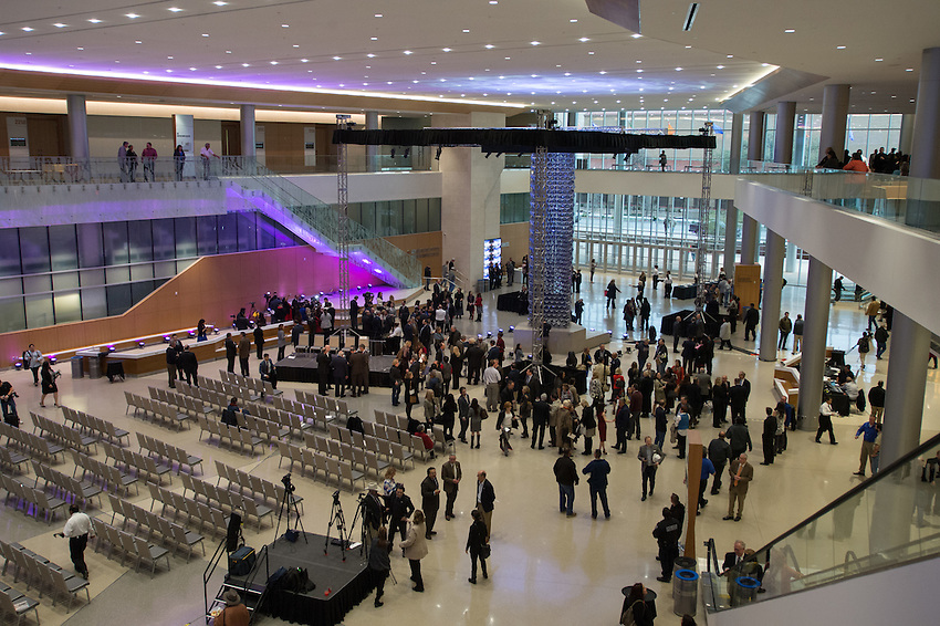 The new Henry B. Gonzalez Convention Center unveiling, Tuesday, Jan. 26, 2016, in San Antonio, Texas. (Darren Abate/VisitSanAntonio.com)