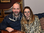 Cathal and Lorraine Reaburn at the Hunterstown Rovers social night in the Hunterstown Inn. Photo:Colin Bell/pressphotos.ie