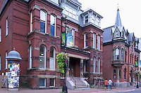 Halifax, NS, Nova Scotia, Canada - Red Brick Heritage Houses on Downtown City Street