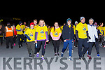 Walkers head off intothe Nationa Park at the Darkness in Light Nathan's walk in Killarney on Saturday