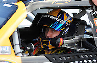 Nov. 13, 2009; Avondale, AZ, USA; NASCAR Sprint Cup Series driver Kyle Busch during qualifying for the Checker O'Reilly Auto Parts 500 at Phoenix International Raceway. Mandatory Credit: Mark J. Rebilas-