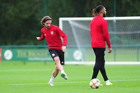 Joe Allen of Wales during the Wales Training Session at The Vale Resort in Cardiff, Wales, UK. Monday 07 October 2019