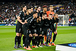 Players of Paris Saint Germain line up and pose for a photo prior to the UEFA Champions League 2017-18 Round of 16 (1st leg) match between Real Madrid vs Paris Saint Germain at Estadio Santiago Bernabeu on February 14 2018 in Madrid, Spain. Photo by Diego Souto / Power Sport Images
