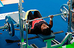 Second lift during the light weight womens competition in the Parapan America Games.