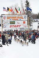 Aaron Burmeister Willow restart Iditarod 2008.