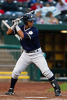 Salvador Perez (39) of the Northwest Arkansas Naturals at bat during a game against the Springfield Cardinals on May 13, 2011 at Hammons Field in Springfield, Missouri.  Photo By David Welker/Four Seam Images.