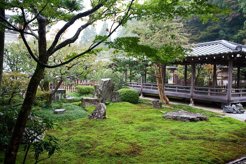 Zen garden at Buddhist temple in Kyoto