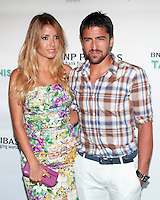 Tennis player Janko Tipsarevic and guest attend the 13th Annual 'BNP Paribas Taste of Tennis' at the W New York.  New York City, August 23, 2012. © Diego Corredor/MediaPunch Inc. /NortePhoto.com<br />