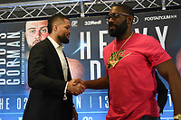 Joe Joyce (L) and Bryant Jennings during a Press Conference at Intercontinental Hotel O2 on 5th June 2019