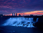 The American Falls in the Morning From Ontario, Canada