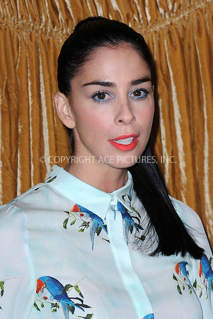 WWW.ACEPIXS.COM<br /> February 16, 2015 New York City<br /> <br /> Sarah Silverman at the alice + olivia by Stacey Bendet fashion presentation on February 16, 2015 in New York City. <br /> <br /> By Line: Kristin Callahan/ACE Pictures<br /> ACE Pictures, Inc.<br /> tel: 646 769 0430<br /> Email: info@acepixs.com<br /> www.acepixs.com