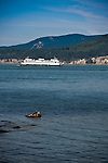 Washington State Ferry passing through the San Juan Islands