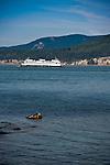 Washington State Ferry passing through the San Juan Islands