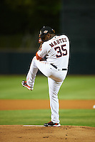 Glendale Desert Dogs pitcher Francis Martes (35), of the Houston Astros organization, during a game against the Salt River Rafters on October 19, 2016 at Camelback Ranch in Glendale, Arizona.  Salt River defeated Glendale 4-2.  (Mike Janes/Four Seam Images)