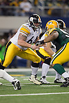 Pittsburgh Steelers center Doug Legursky (64) during Super Bowl XLV against the Green Bay Packers on Sunday, February 6, 2011, in Arlingto, Texaas. The Packers won 31-25. (AP Photo/David Stluka)