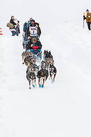 Cody Strathe on Cordova St. hill during the Anchorage start day of  Iditarod 2018<br /> <br /> Photo by Trent Grasse /SchultzPhoto.com  (C) 2018  ALL RIGHTS RESERVED