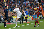 Real Madrid´s Gareth Bale and Real Sociedad´s Inigo Martinez during La Liga match between Real Madrid and Real Sociedad at Santiago Bernabeu stadium in Madrid, Spain. December 30, 2015. (ALTERPHOTOS/Victor Blanco)