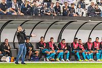 São Paulo (SP) 14/02/2019 - Futebol / Sul-americana / Corinthians / Racing – Eduardo Coudet, treinador do Racing durante partida contra o Corinthians em jogo válido pela 1ª rodada de ida da Copa Sul-Americana 2019 na Arena Corinthians em São Paulo, nesta quinta-feira, 14. (Foto: Anderson Lira/Brazil Photo Press / Agencia O Globo) Esportes