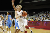 March 14, 2010.  Lindy La Rocque during the finals of the Pac-10 tournament.  Stanford defeated UCLA, 70-46.
