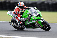 PHILLIP ISLAND, 27 FEBRUARY - Mark Aitchison (AUS) riding the Kawasaki ZX-10R (8) of the Team Pedercini during race one of round one of the 2011 FIM Superbike World Championship at Phillip Island, Australia. (Photo Sydney Low / syd-low.com)