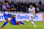 Komail Hasan Alaswad of Bahrain (R) in action against Salam Ranjan Singh of India (L) during the AFC Asian Cup UAE 2019 Group A match between India (IND) and Bahrain (BHR) at Sharjah Stadium on 14 January 2019 in Sharjah, United Arab Emirates. Photo by Marcio Rodrigo Machado / Power Sport Images