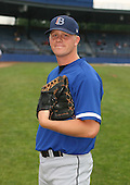 July 14th, 2007:  Kyle Touchatt of the Aberdeen Ironbirds, Class-A Short-Season affiliate of the Baltimore Orioles, poses for a photo before a game vs the Jamestown Jammers in New York-Penn League action.  Photo Copyright Mike Janes Photography 2007.