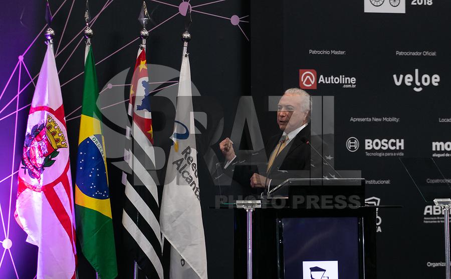 S&Atilde;O PAULO, 08.11.2018  - MICHEL TEMER  - O Presidente Michel Temer participa da cerimonia de abertura oficial do  30&ordf; edi&ccedil;&atilde;o do Sal&atilde;o do Autom&oacute;vel nesta quinta-feira (08) no S&atilde;o Paulo Expo, zona sul da capital paulista.<br /> <br /> (Foto: Fabricio Bomjardim / Brazil Photo Press)